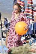 Hilary Duff - At the beach in Malibu 7/4/18