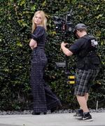 Elle Fanning - Fillming a music video for the film 'Teen Spirit' in LA 3/21/19