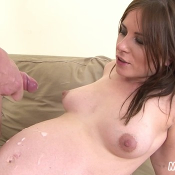 Leony - Pregnant Leony Strips and Gets Fucked Hard! (2016) HD 1080p