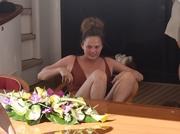 Chrissy Teigen - Swimsuit candids on a yacht in Portofino 7/2/19