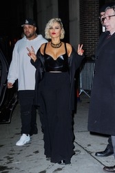 Bebe Rexha - Leaving The Stephen Colbert Show in NYC 3/4/19