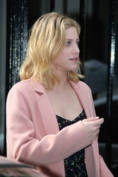 Lili Reinhart - Arriving for Rivercon in Paris 03/31/2018