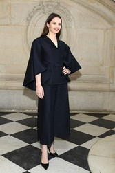 Felicity Jones - Christian Dior Fashion Show in Paris 1/21/19