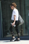 Milla Jovovich - Leaving A Gym In Spandex After A Morning Workout (8/8/18)