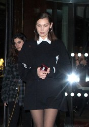 Bella Hadid - Out for dinner in Paris 1/18/18