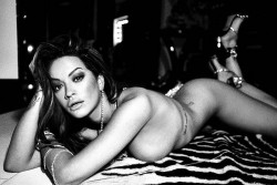 Rita Ora Naked on a Bed - Damon Baker Photoshoot 2017