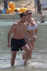 Kelly Brook in White Bikini on the Beach in Mykonos 05/26/2018185c96876418104