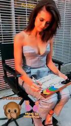 Nina Dobrev on the set of a photoshoot - 3/19/19 Instagram Video