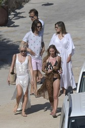 Elizabeth Hurley - With family at the beach in Mykonos 7/19/18