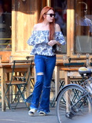 Lindsay Lohan - Out for dinner in NYC 5/3/18