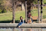 Selena Gomez at Lake Balboa park in Encino 02/02/2018b5a34d737644283