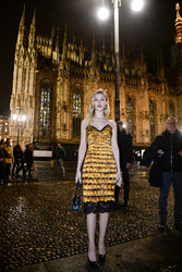 Nicola Peltz - Versace Fashion Show in Milan 2/23/18