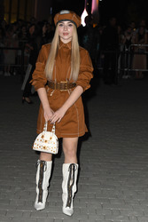 Sabrina Carpenter - Versace Fashion Show in Milan 9/21/18
