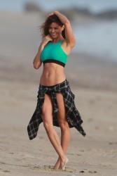 Brooke Burke Wearing a Bikini at a Beach in Malibu - 1/30/18