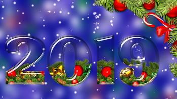 С Новым 2019 годом! - Обои для вашего рабочего стола (100 шт)