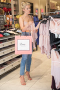 Mollie King -                         Boux Avenue Store Oxford Street London June 28th 2018.