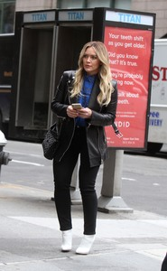 Hilary Duff - On the set of Younger in NYC 4/9/19