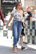 Melissa Benoist - Arriving at AOL Build Studios in NYC 6/19/18