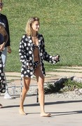 Hailey Baldwin - Wearing a bikini on set of a photoshoot in LA 12/4/2018 4aabf41053696414