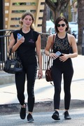 Ashley Greene & Lucy Hale - Leaving the gym in LA 8/4/18