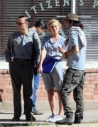 Margot Robbie - Filming 'Dreamland' in New Mexico 10/26/17