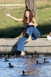 Selena Gomez at Lake Balboa park in Encino 02/02/2018ab8c17737640553