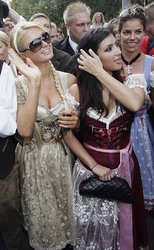 Paris Hilton & Kim Kardashian - At Octoberfest in Germany | September 25, 2006