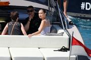 Bella Hadid boarding a yacht in Monaco 05/25/201832ebdd876375114