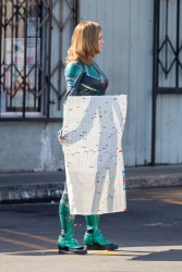 Brie Larson - On the set of 'Captain Marvel' in Atlanta 1/24/18