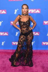 Rita Ora - Wearing a See Through dress at 2018 MTV VMA's in NYC 8/20/18