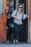 Hilary Duff - Leaving a veterinarian in Studio City 2/18/18