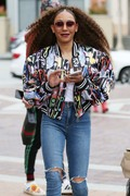 """Melanie Brown - Arriving For Another """"America's Got Talent"""" Taping In LA (3/16/18)"""