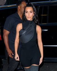 Kim Kardashian - Arriving at the Nas Listening Party in NYC 6/14/18
