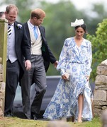 Meghan Markle -                          Celia McCorquodale and George Woodhouse's Wedding Stoke Rockford Lincolnshire June 16th 2018.