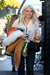 Hilary Duff - Leaving Nine Zero One Salon in West Hollywood 1/4/19