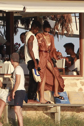 Shanina Shaik - At the beach in Spain 7/25/18