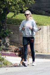 Amanda Seyfried - Walking her dog in LA 4/6/18