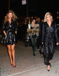 Kendall Jenner, Hailey Baldwin & Doutzen Kroes - Out for dinner in NYC 2/8/18