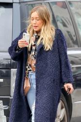 Hilary Duff - Walking her dog in NYC 3/26/18