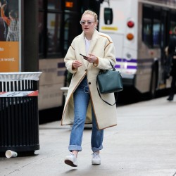 Dakota Fanning - Out in NYC 1/23/18