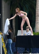 Alexina Graham - Wearing lingerie on set of a Victoria's Secret Photoshoot in Miami 11/30/18