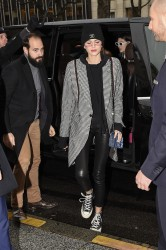 Kaia Gerber - Arriving at her hotel in Paris 1/23/18