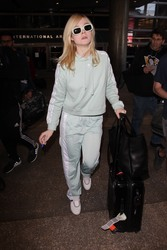 Elle Fanning - At LAX Airport 2/21/18