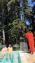 Minka Kelly in a Pool - 4/14/18 Instagram Stories