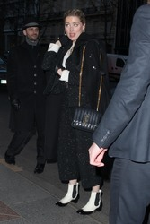 Amber Heard - Arriving at her hotel in Paris 1/21/19