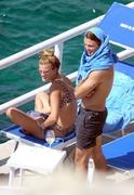 Nina Agdal - Bikini candids in Capri 7/31/18