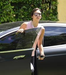 Nina Dobrev - Arriving at her home in LA 7/10/18