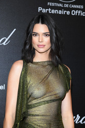 Kendall Jenner - Wearing a see-through dress at the Chopard Secret Night Party in Cannes 5/11/18