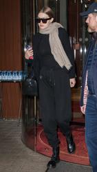 Gigi Hadid - Leaving her hotel in Paris 1/25/19