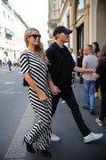 Paris Hilton - Shopping in Milan 6/16/18